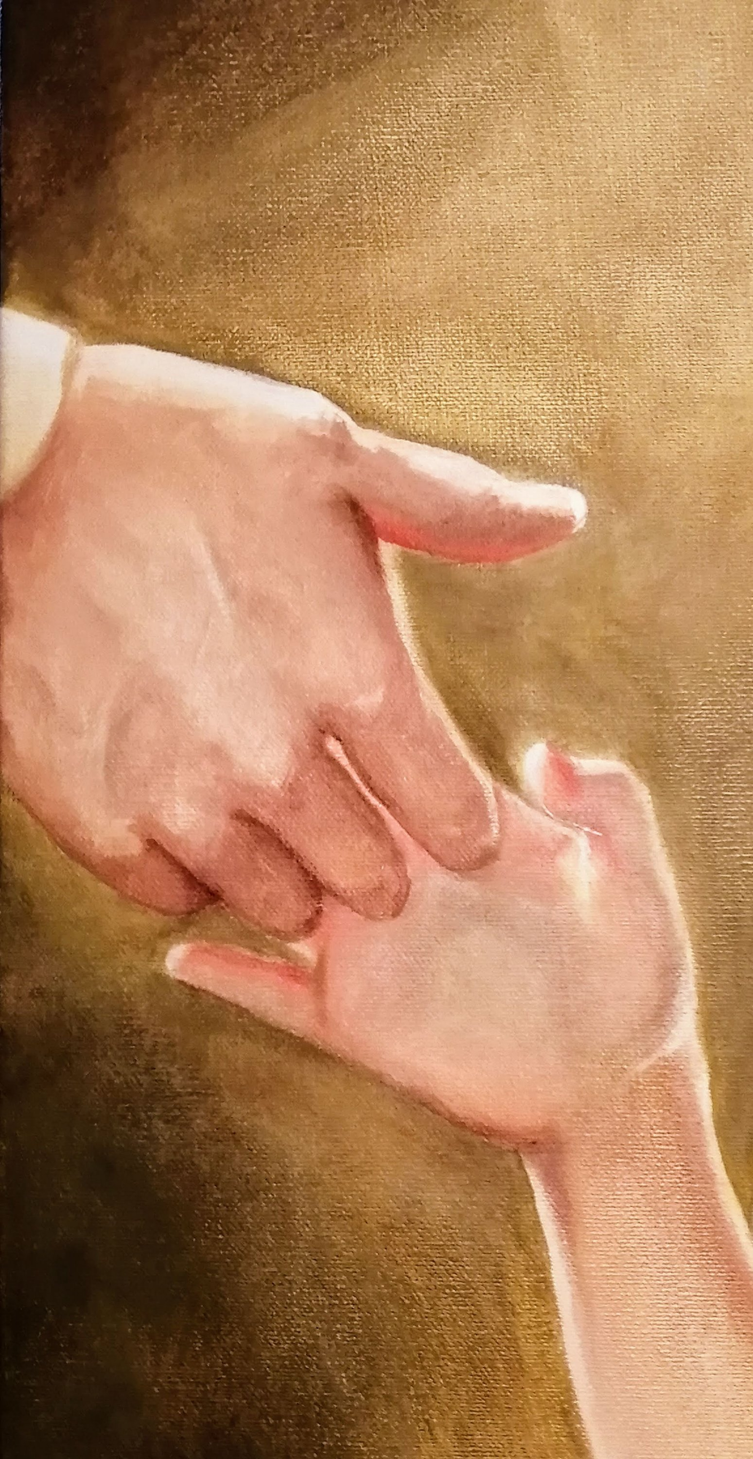 Loving hands oil painting